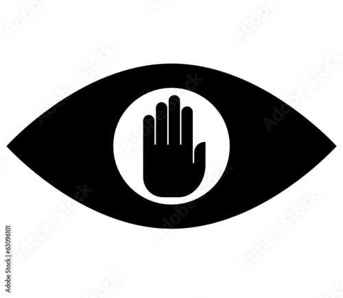 Stop spying vector icon