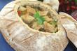 frische Brotsuppe mit Suppengemüse