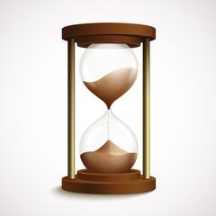 Retro hourglass clock