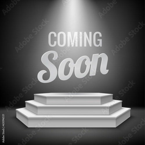 Coming soon concept background
