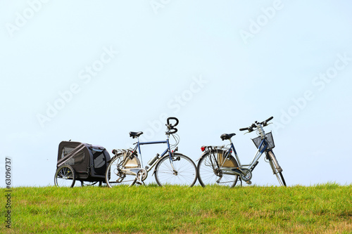 Bikes on the dike