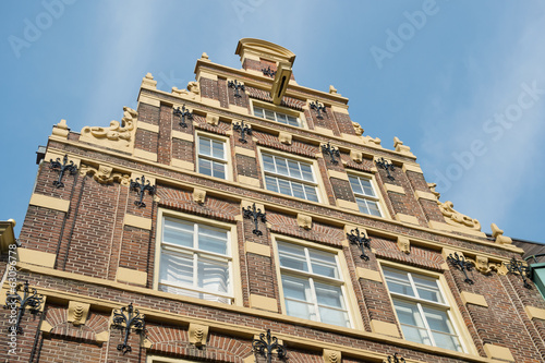 Typical Dutch facade building