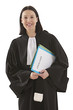 woman lawyer attorney with cold case folder - 63096965