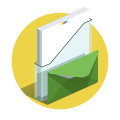 Vector illustration of detailed Office docs icon