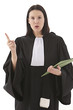 woman lawyer attorney  preparing her speech for defense - 63097114