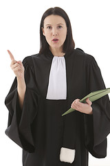 woman lawyer attorney  preparing her speech for defense