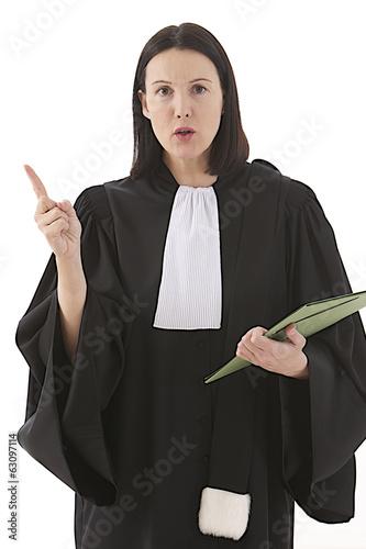woman lawyer attorney  preparing her speech for defense - 63097114