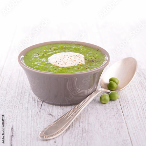 pea soup and cream
