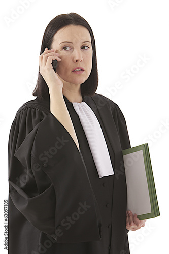 Young woman lawyer attorney  speaking on the phone