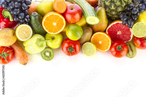 A pile of fresh, healthy fruits and vegetables