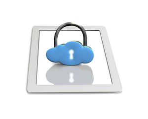 Cloud shape lock on tablet