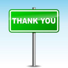 Vector thank you signpost