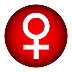 Gender female symbol button