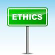 Vector ethics signpost