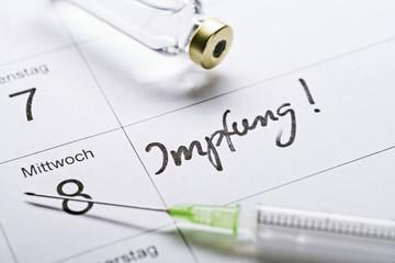 Termin für Impfung im Kalender