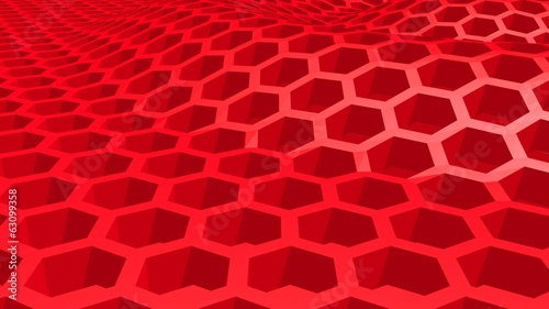 red honeycomb landscape