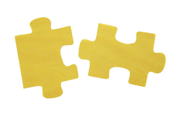 Puzzles on a white background