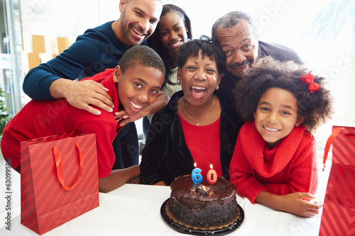 Family Celebrating 60th Birthday Together