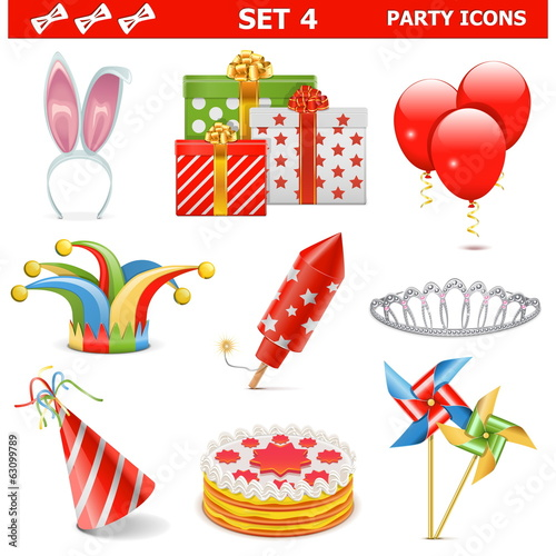 Vector Party Icons Set 4