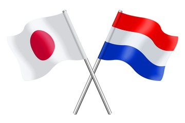 Flags: Japan and the Netherlands