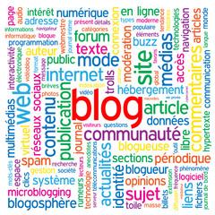 """Nuage de Tags """"BLOG"""" (réseaux sociaux médias actualités news)"""