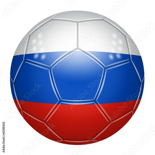Soccer ball at the colors of Russia