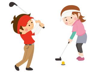 ゴルフ 男女