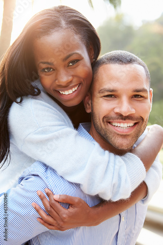 Portrait Of Loving African American Couple In Countryside - 63100961