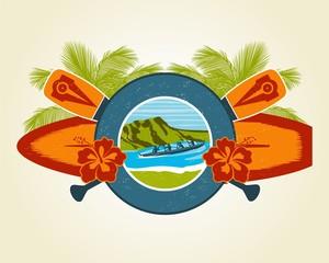 Surf and Canoe emblem