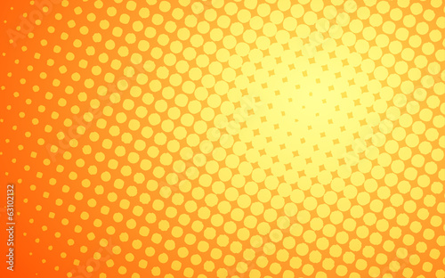 summer yellow halftone polka dot in white background