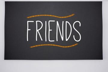 Friends written on big blackboard