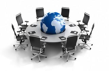 G8 Konferenztisch