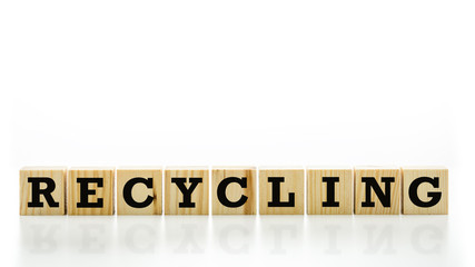 Conceptual image with the word Recycling