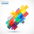 Abstract vector colorful squares