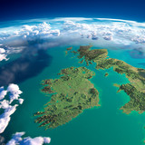 Fragments of the planet Earth. Ireland and UK - 63103717