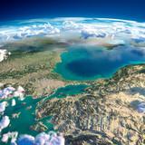 Fragments of the planet Earth. Turkey. Sea of Marmara