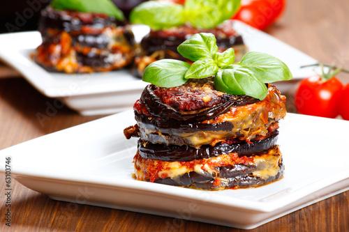 Papiers peints Legume Parmigiana di melanzane: baked eggplant - italy, sicily cousine-