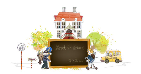 School time illustration, Back to school