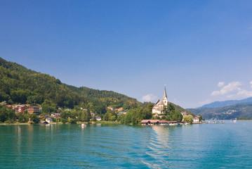 Resort Maria Worth. Church of St. Primus and Felician. Austria