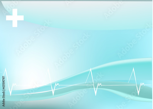 abstract medicine background with heart beats