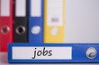 Jobs on blue business binder