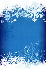 Textured snowflake background.