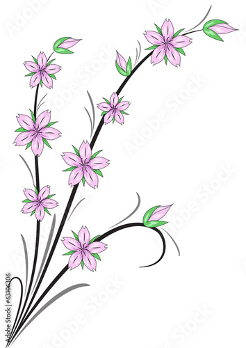 fiori di ciliegio stilizzati