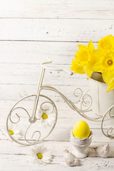 Easter decoration in retro style