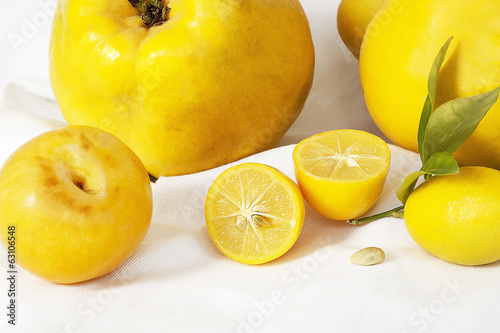 Yellow fruits.