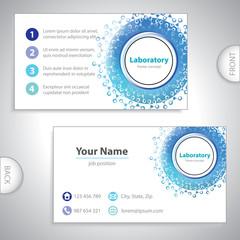 Universal blue laboratory business card.