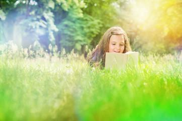 Girl in Light Leaks reading Book
