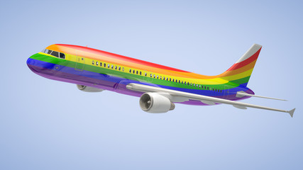 Airplane Rainbow Colours