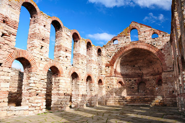 Ruins of Byzantine church in Nesebar