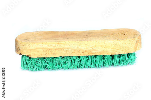 Wooden brush for cleaning clothes
